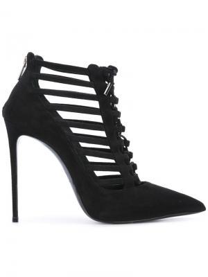 Туфли-лодочки со шнуровкой Le Silla. Цвет: чёрный