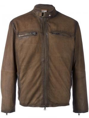 Куртка с карманами на молнии Damico D'amico. Цвет: коричневый