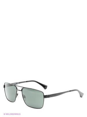 Очки солнцезащитные Emporio Armani. Цвет: черный, зеленый