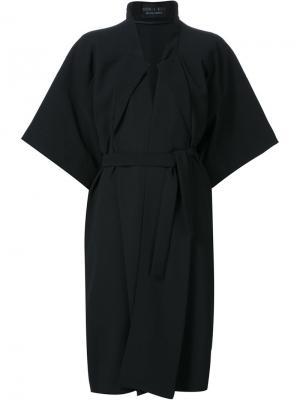 Пальто в стиле кимоно Iris Van Herpen. Цвет: чёрный