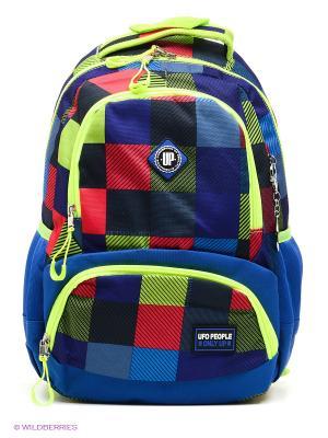 Рюкзак UFO PEOPLE. Цвет: синий, салатовый, красный