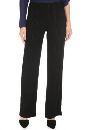 Прямые брюки с полосками Caterina Leman. Цвет: черный