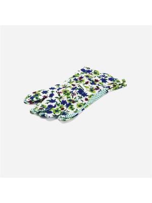 Перчатки садовые х/б ткань с ПВХ точкой Inbloom. Цвет: белый