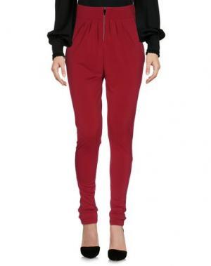 Повседневные брюки JILL MORISCO Milano. Цвет: красно-коричневый