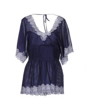 Блузка CATHERINE MALANDRINO. Цвет: синий