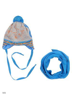 Шапка и шарф Agbo. Цвет: оранжевый