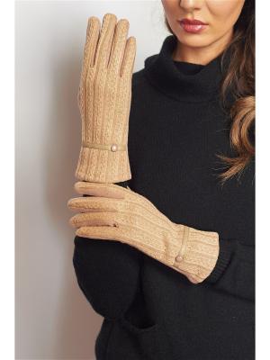 Перчатки Abby. Цвет: бежевый