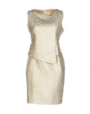 Короткое платье EYEDOLL. Цвет: золотистый
