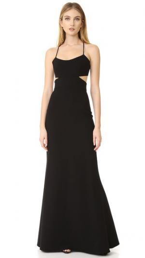 Вечернее платье с вырезами без рукавов Jill Stuart. Цвет: голубой