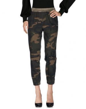 Повседневные брюки TOY G.. Цвет: зеленый-милитари