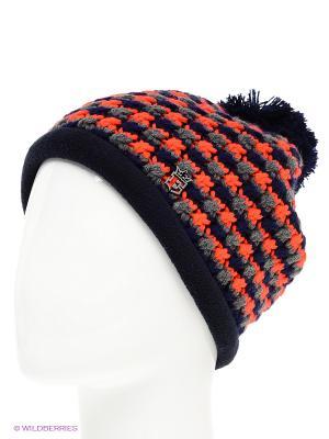 Шапка Ensis. Цвет: темно-синий, оранжевый