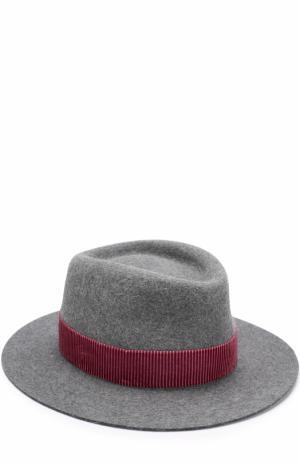 Фетровая шляпа Andre с лентой Maison Michel. Цвет: серый