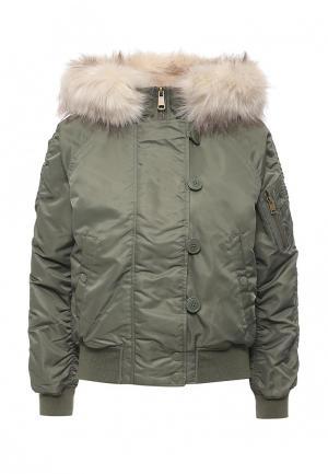 Куртка утепленная Topshop. Цвет: зеленый