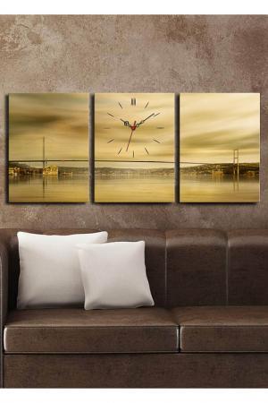 Декоративные настенные часы. Clock art. Цвет: желтый