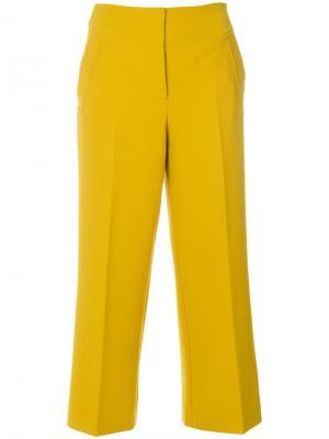 Укороченные брюки Luisa Cerano. Цвет: жёлтый и оранжевый