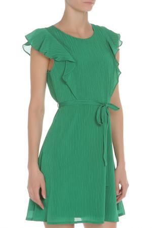 Полуприлегающее платье с рукавом Бабочка YUMI. Цвет: green