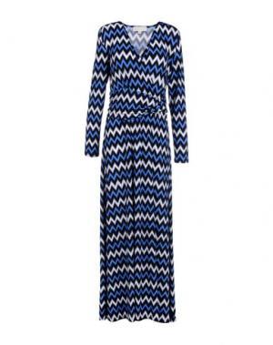 Длинное платье MICHAEL KORS. Цвет: синий