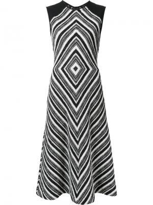 Расклешенное платье с геометрическим узором Martin Grant. Цвет: чёрный