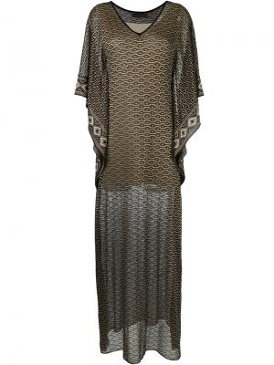 Long knit dress Cecilia Prado. Цвет: чёрный