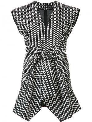 Клетчатая блузка Proenza Schouler. Цвет: чёрный