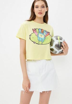 Футболка Твое. Цвет: желтый