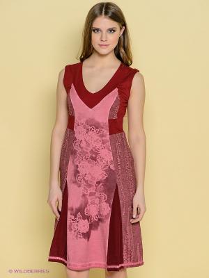 Платье Angels Never Die. Цвет: бледно-розовый, темно-красный