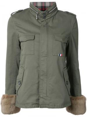 Куртка на молнии с высокой горловиной Guild Prime. Цвет: зелёный