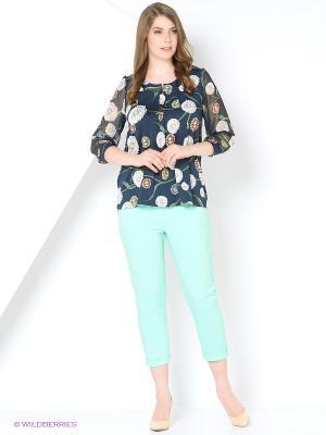 Капри Milana Style. Цвет: бирюзовый