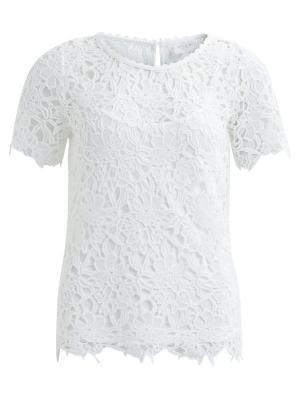 Блузка Vila. Цвет: белый