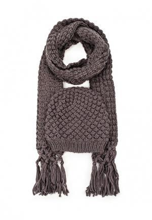 Комплект шапка и шарф Avanta. Цвет: серый