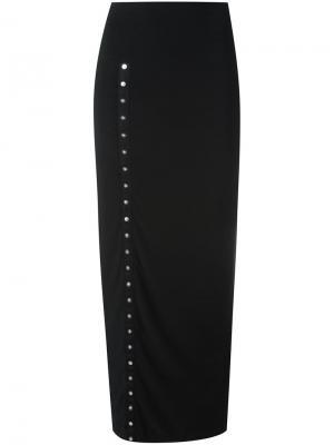 Длинная юбка Side Snap Norma Kamali. Цвет: чёрный