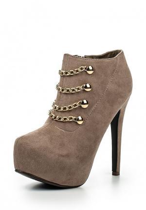 Ботильоны Sweet Shoes. Цвет: бежевый