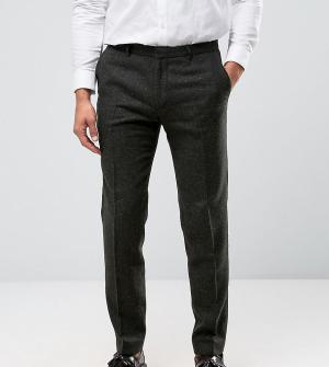 Heart & Dagger Фактурные зауженные брюки с отворотами. Цвет: зеленый