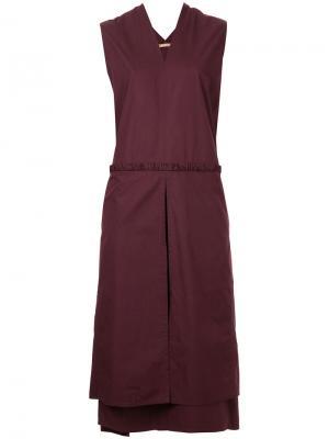 Платье с V-образным вырезом Denson Nehera. Цвет: красный