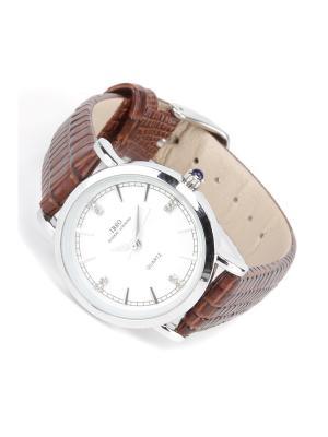 Часы на ремне IBSO. Цвет: коричневый, белый