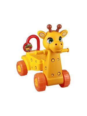 Каталка детская Жираф (желт.) Альтернатива. Цвет: желтый, оранжевый