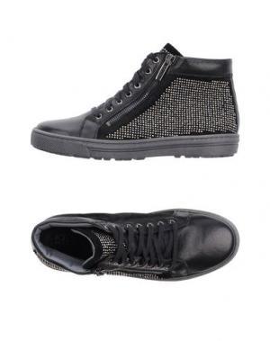 Высокие кеды и кроссовки KEYS. Цвет: черный