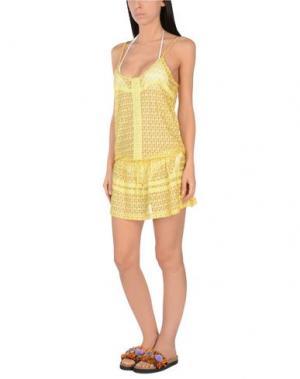 Пляжное платье MELISSA ODABASH. Цвет: желтый