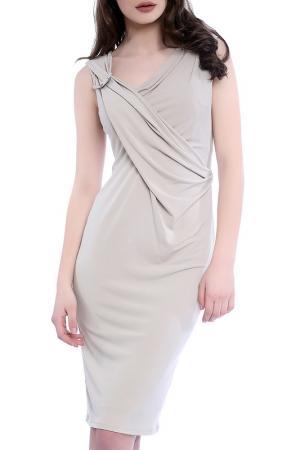 Платье Emma Monti. Цвет: бежевый