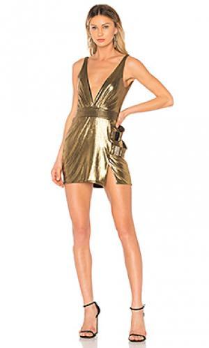 Платье do or die Zhivago. Цвет: металлический золотой
