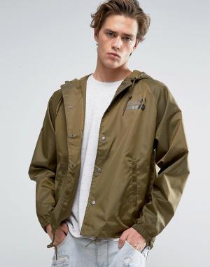 Brixton Спортивная куртка с капюшоном Maverick. Цвет: зеленый