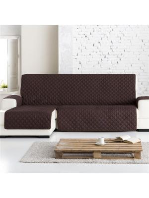 Накидка на угловой диван Йорк шоколад, левый угол Медежда. Цвет: коричневый