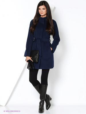 Пальто Electrastyle. Цвет: синий