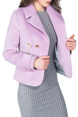 Пальто BEZKO. Цвет: лавандовый