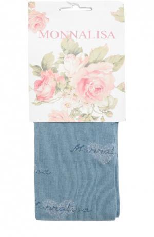 Колготки с рисунком Monnalisa. Цвет: голубой