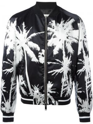 Куртка-бомбер с пальмовым принтом Golden Goose Deluxe Brand. Цвет: чёрный