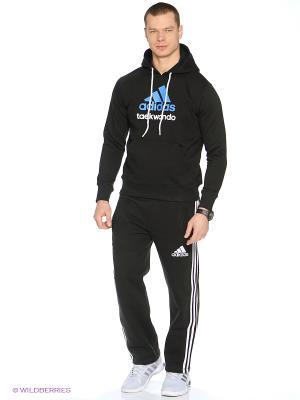 Худи Community Hoody Taekwondo Adidas. Цвет: черный, синий