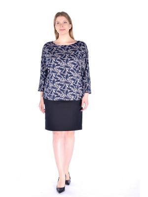 Блузка LikModa. Цвет: темно-синий, серый