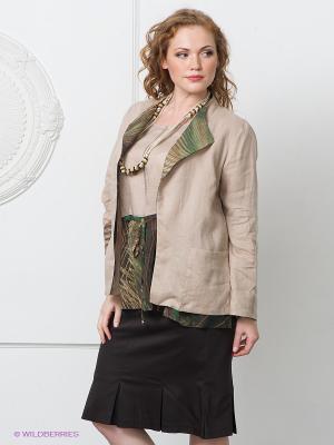 Пиджак Gemko plus size. Цвет: светло-бежевый