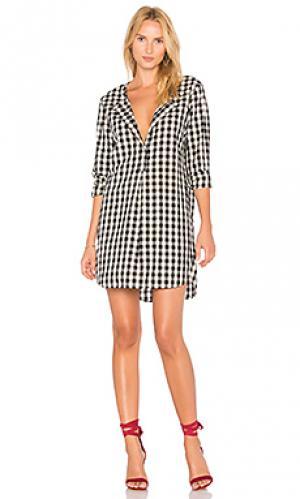Платье из рубашечной ткани oxford Stateside. Цвет: черный